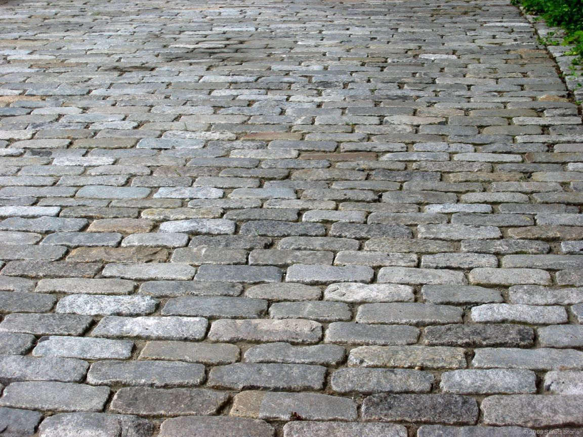 1249822 Face It Cobblestone Is A Hard Texture on Brick And Crushed Granite Patio